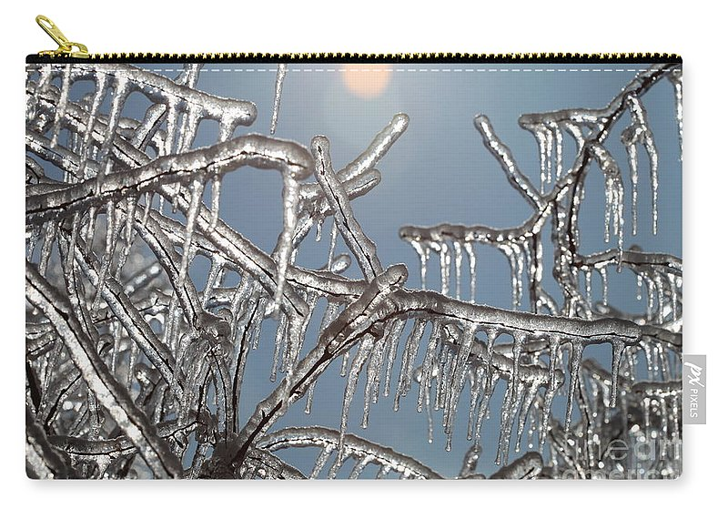 Winter Carry-all Pouch featuring the photograph Winter Warmth by Nadine Rippelmeyer