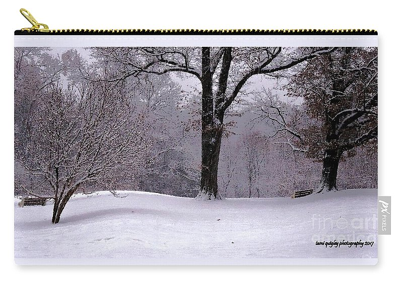 Winter Carry-all Pouch featuring the photograph Winter White by Tami Quigley