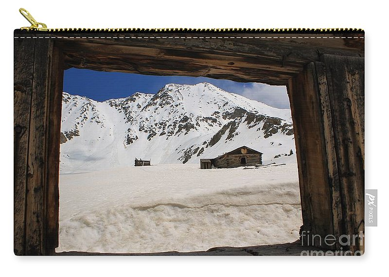 Nature Carry-all Pouch featuring the photograph Winter Window View by Tonya Hance