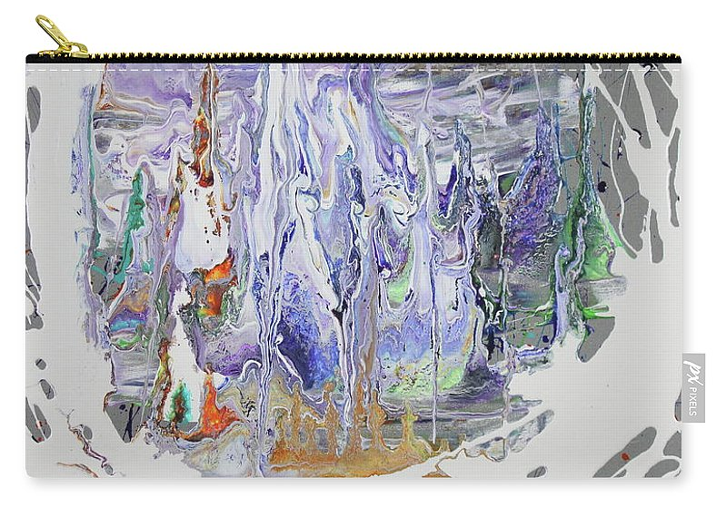 Ice Carry-all Pouch featuring the painting Ice Castle by Madeleine Arnett
