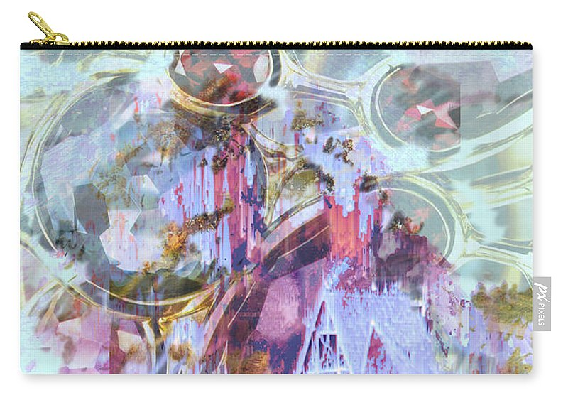 Winter Wind Carry-all Pouch featuring the digital art Winters Blast by Seth Weaver