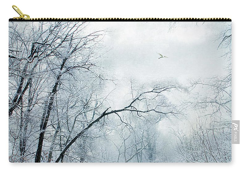 Winter Carry-all Pouch featuring the photograph Winter's Cloak by Jessica Jenney