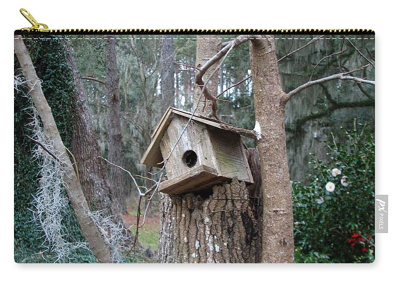 Bird House Carry-all Pouch featuring the photograph Winter's Empty Nest by J M Farris Photography