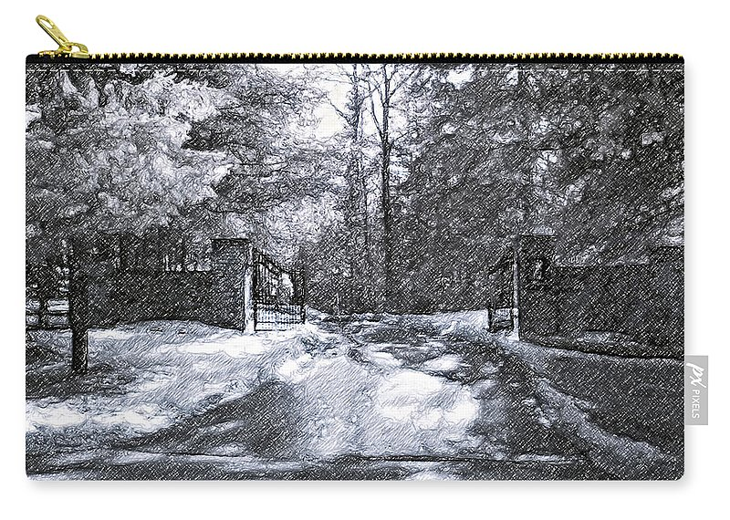 Winter Carry-all Pouch featuring the photograph Winter's Gates by Steve Harrington