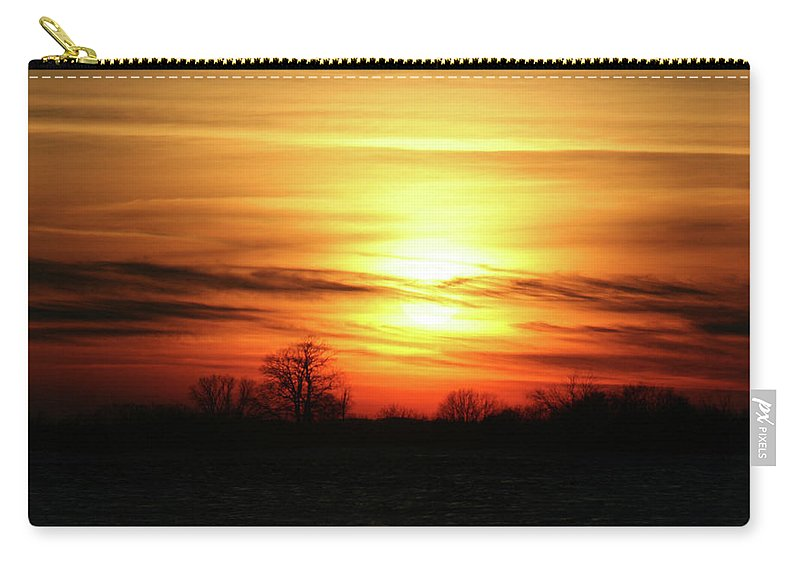 Winter Carry-all Pouch featuring the photograph Winters Morning by Tommy Anderson