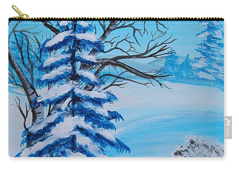 Barbara Griffin Carry-all Pouch featuring the painting Winters Palette by Barbara Griffin
