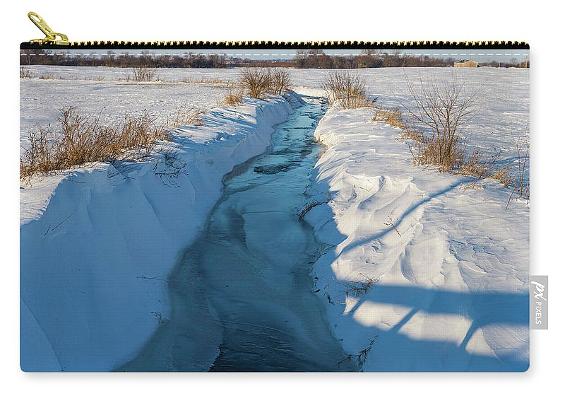 Agriculture Carry-all Pouch featuring the photograph Wintery Creek by Rich Mengel