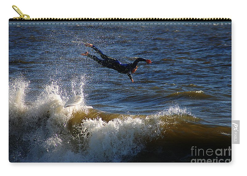 Clay Carry-all Pouch featuring the photograph Wipe Out by Clayton Bruster