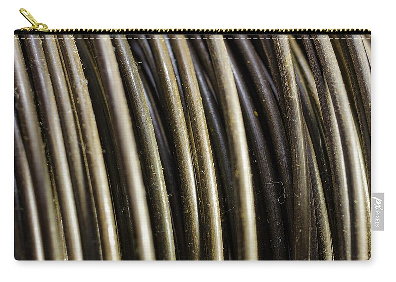 Wire Carry-all Pouch featuring the photograph Wire by Kevin Gallagher