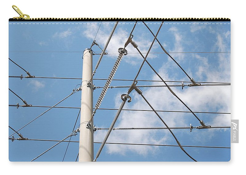 Sky Carry-all Pouch featuring the photograph Wired Sky by Rob Hans