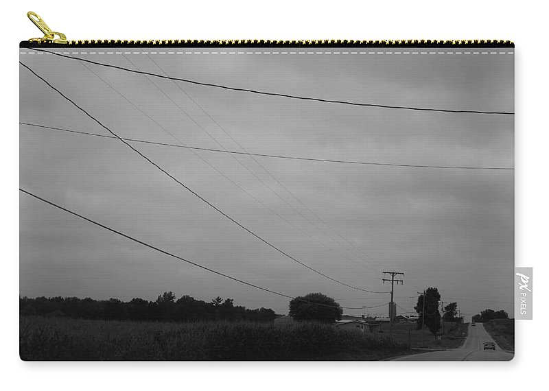 Carry-all Pouch featuring the photograph Wires by John Bichler