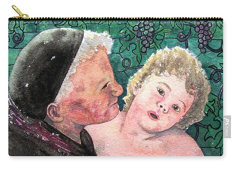 Child Carry-all Pouch featuring the painting Wisdom And Innocence by Gale Cochran-Smith