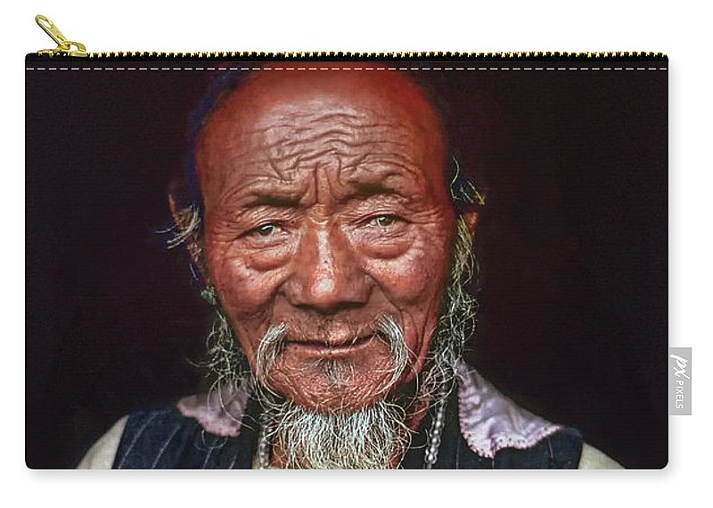 Tibetan Carry-all Pouch featuring the photograph Wisdom by Steve Harrington