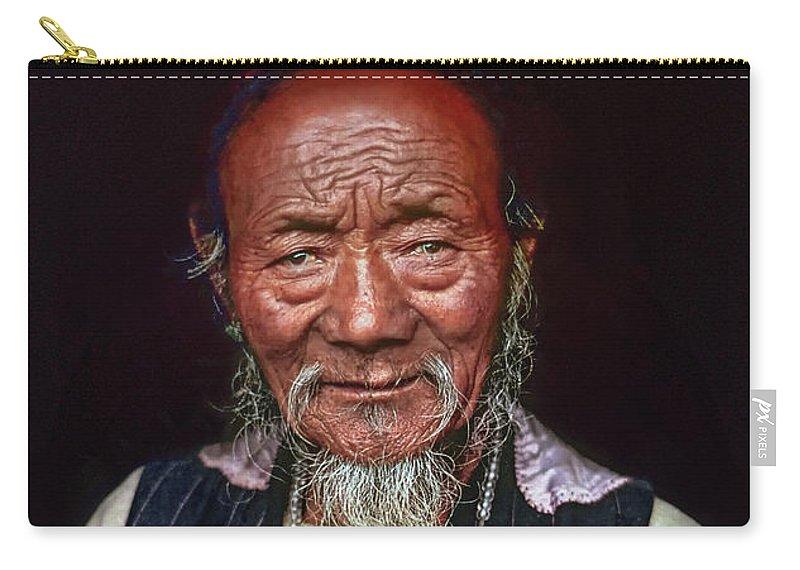 Tibetan Carry-all Pouch featuring the photograph Wisdom by Steve Harrington