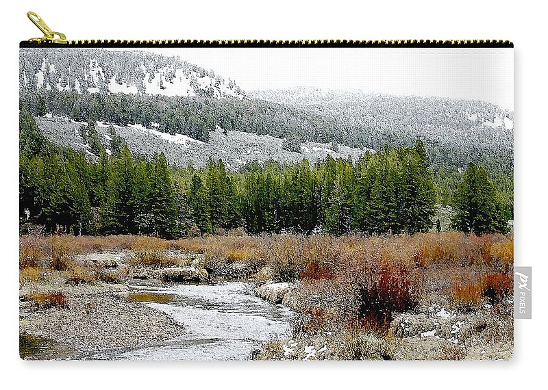 Montana Carry-all Pouch featuring the photograph Wise River Montana by Nelson Strong