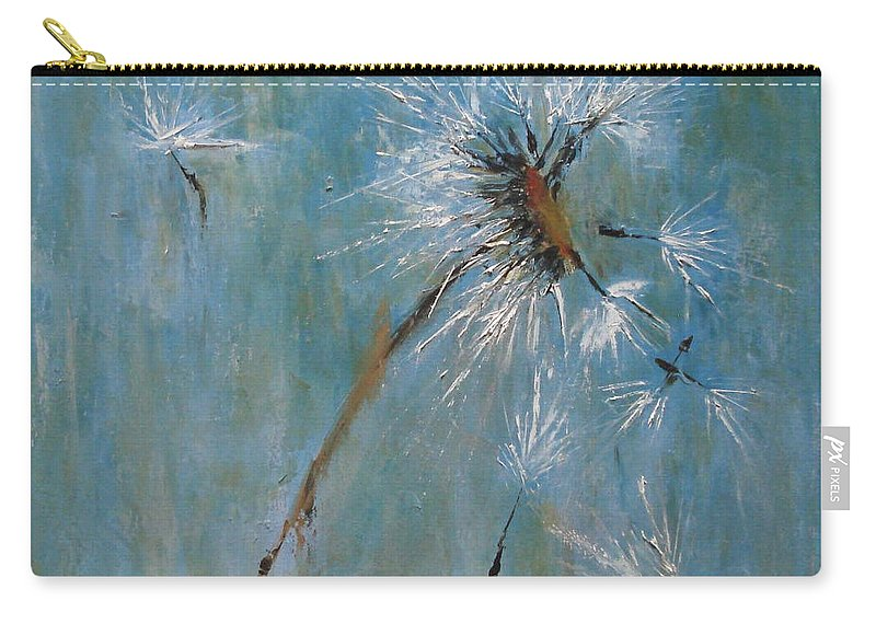 Landscape Carry-all Pouch featuring the painting Wishes by Barbara Andolsek