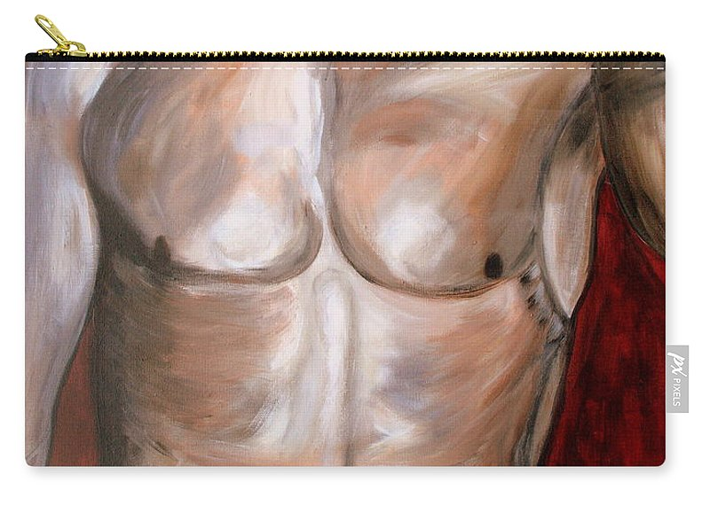Body Carry-all Pouch featuring the painting Wishful Thinking.. by Jolanta Anna Karolska