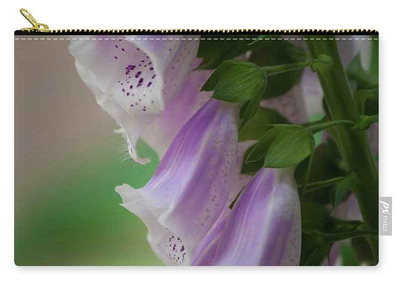 Purple Carry-all Pouch featuring the photograph With Bells On by Trish Tritz