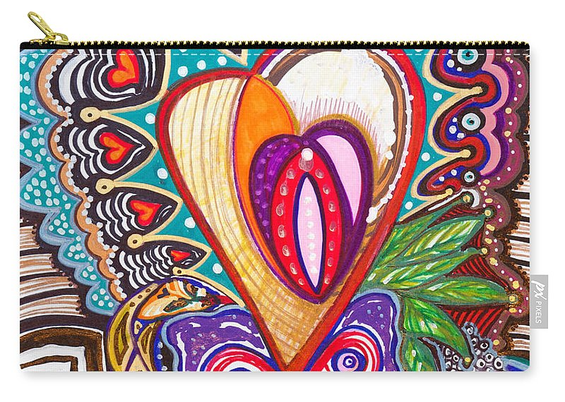 Heart Carry-all Pouch featuring the painting With Deep Thoughts And Tears - Viii by Laurel Rosenberg