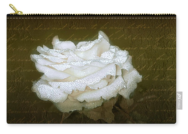 Floral Carry-all Pouch featuring the photograph With Love by Holly Kempe