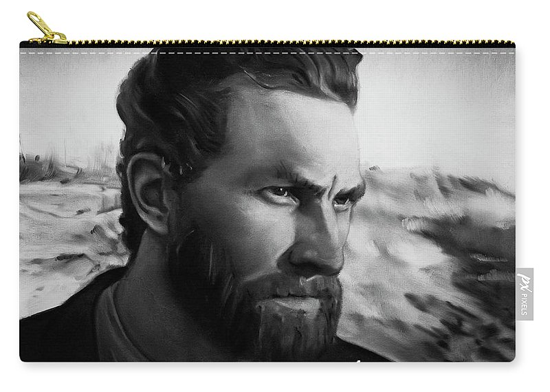 Carry-all Pouch featuring the painting With Theo support - there is no stopping him by Agata Smolska