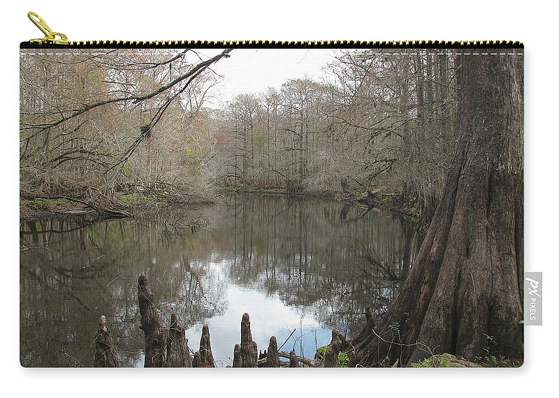 Nature Carry-all Pouch featuring the photograph Withlacoochie In Winter by Peg Urban