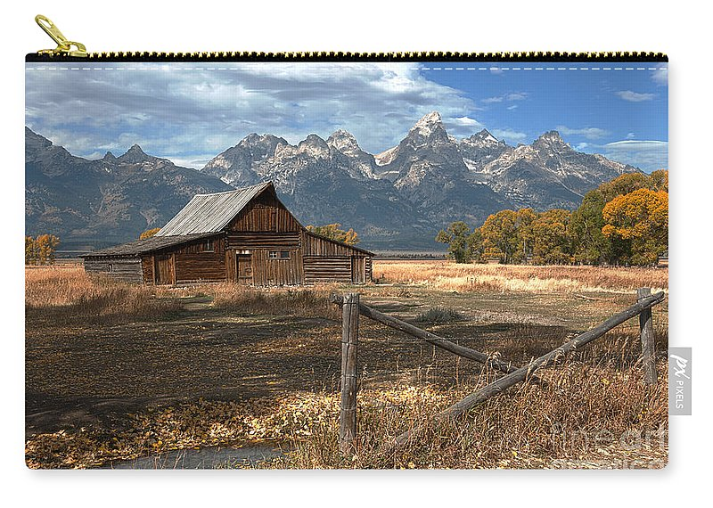 Grand Tetons Carry-all Pouch featuring the photograph Withstanding The Test Of Time by Sandra Bronstein