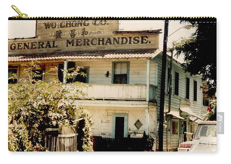 Mary Deal Carry-all Pouch featuring the photograph Wo Chong General Store Courtland Ca by Mary Deal