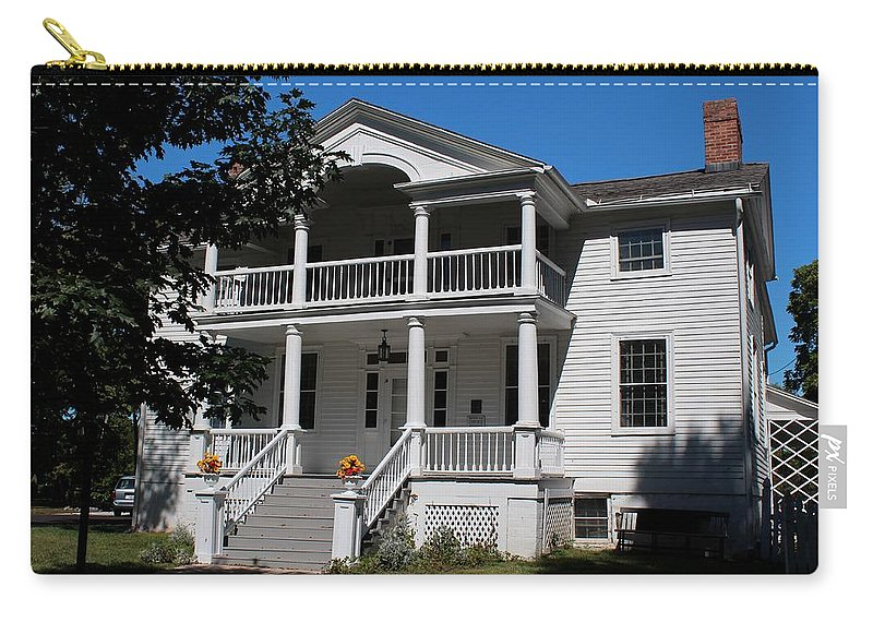 Wolcott House Carry-all Pouch featuring the photograph Wolcott House by Michiale Schneider