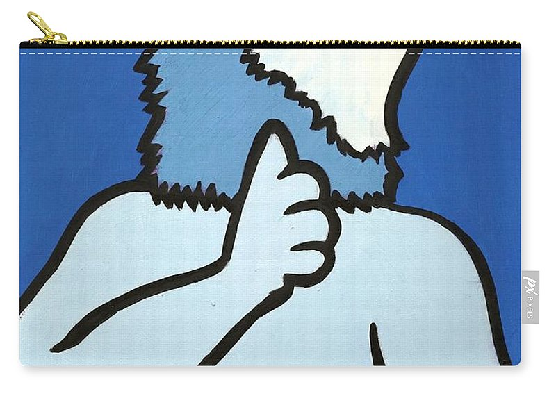 Clay Carry-all Pouch featuring the painting Wolve by Thomas Valentine