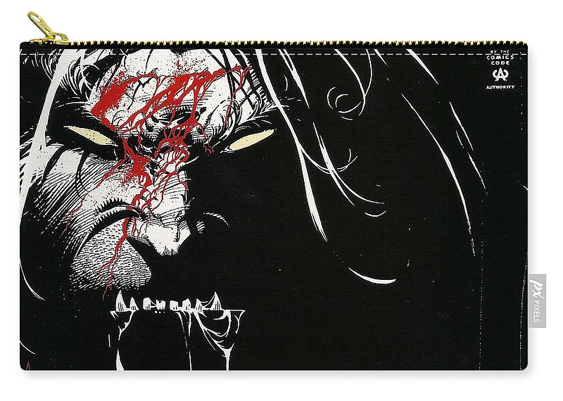 Wolverine Carry-all Pouch featuring the digital art Wolverine by Maye Loeser