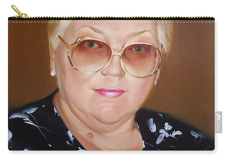 Art Carry-all Pouch featuring the painting Woman 1 by Sergey Ignatenko