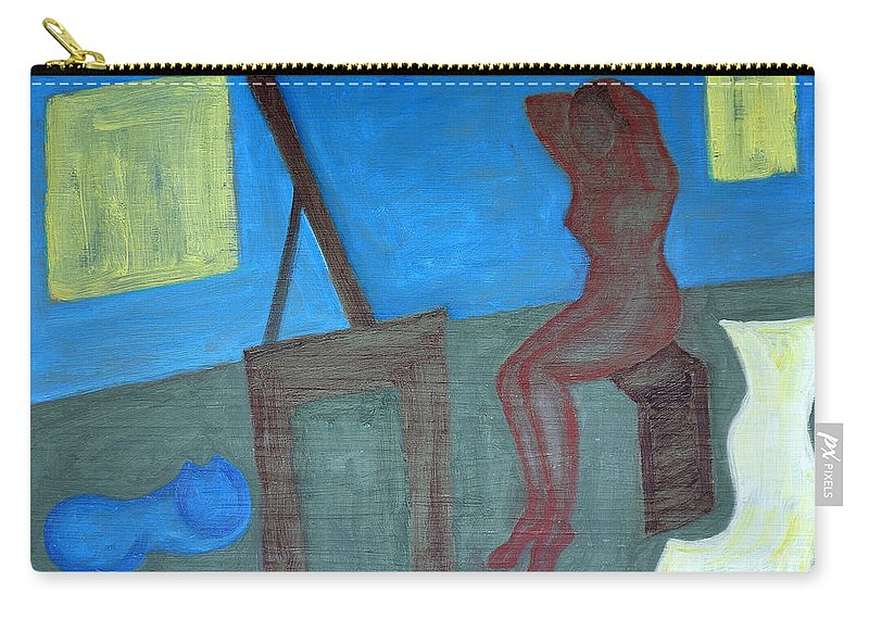 Bedroom Carry-all Pouch featuring the painting Woman After Bathing by Patrick J Murphy