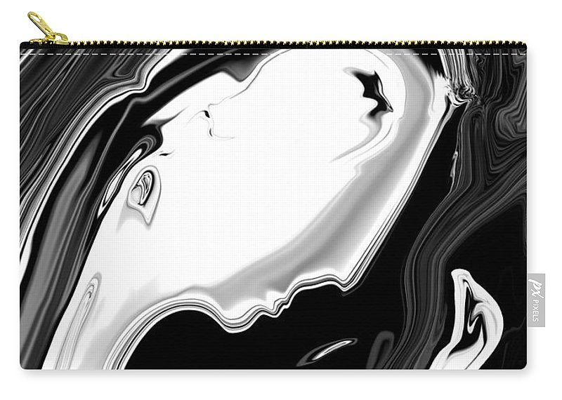 Art Carry-all Pouch featuring the digital art Woman And Bird by Rabi Khan