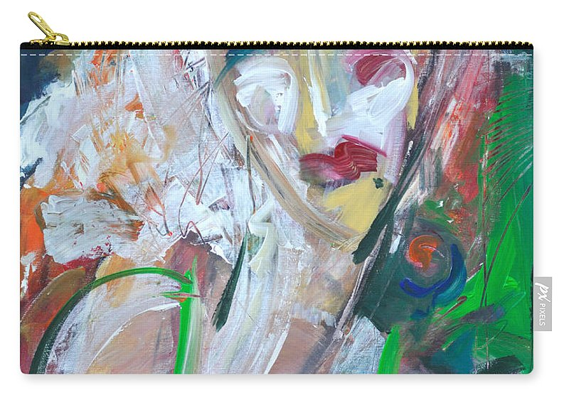 Jazz Carry-all Pouch featuring the painting Woman At The Jazz Club by Tim Nyberg