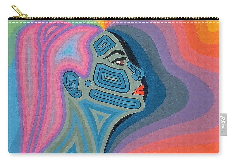 Oil Carry-all Pouch featuring the painting Woman by Peter Antos