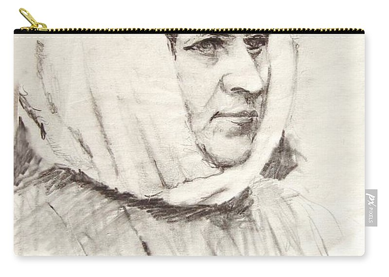 Ice Carry-all Pouch featuring the photograph Woman by Ron Bissett