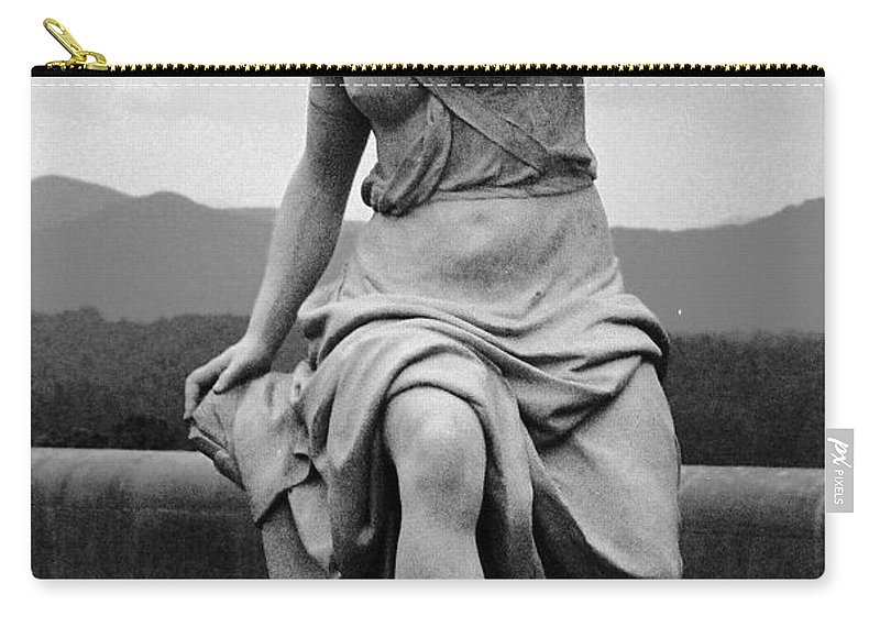 Figurative Carry-all Pouch featuring the photograph Woman Sculpture Nc by Eric Schiabor