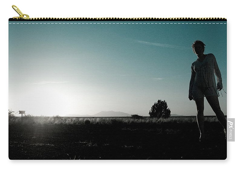 Woman Carry-all Pouch featuring the photograph Woman Standng by Scott Sawyer