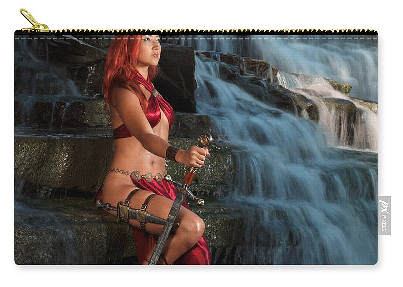 Woman Carry-all Pouch featuring the photograph Woman Warrior by Oleksiy Maksymenko
