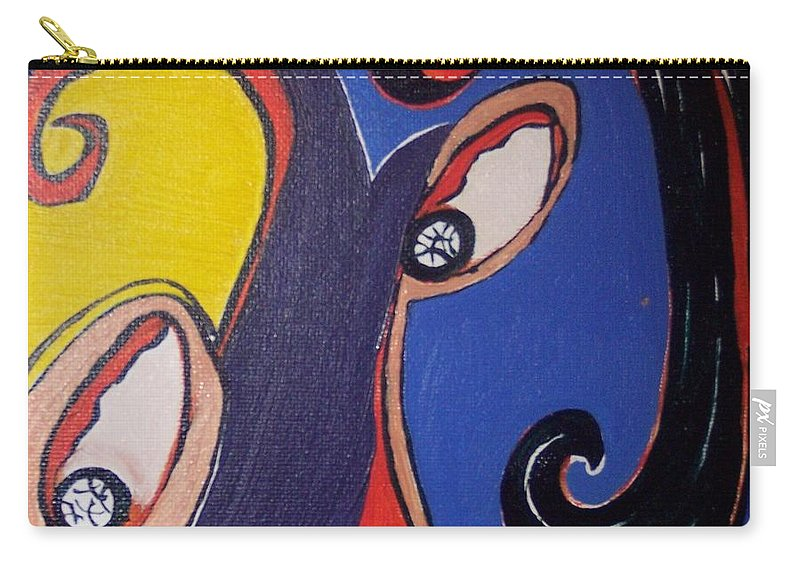 Abstract Paintings Carry-all Pouch featuring the painting Woman30 by Seon-Jeong Kim