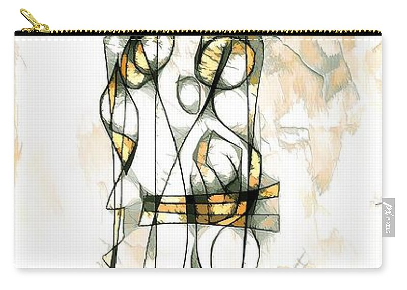 Abstraction Carry-all Pouch featuring the digital art Women 3981 by Marek Lutek