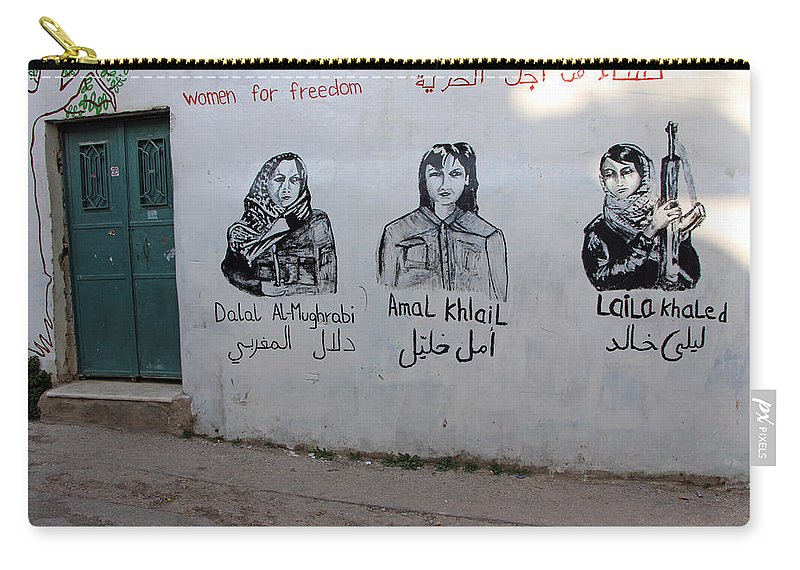 Laila Carry-all Pouch featuring the photograph Women For Freedom by Munir Alawi