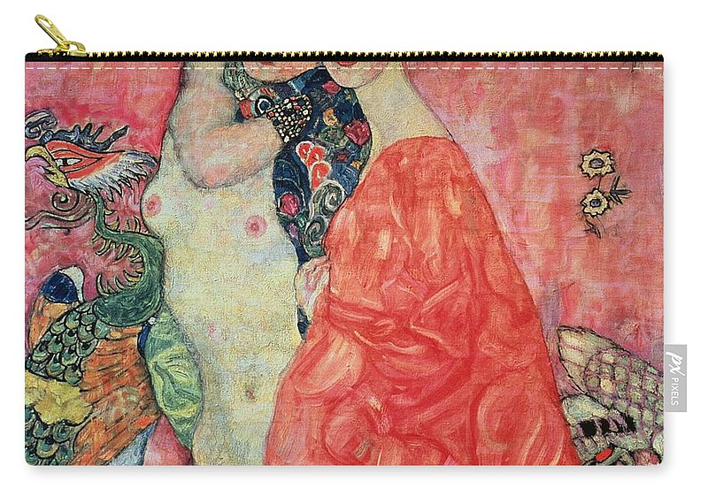 Women Carry-all Pouch featuring the painting Women Friends by Gustav Klimt
