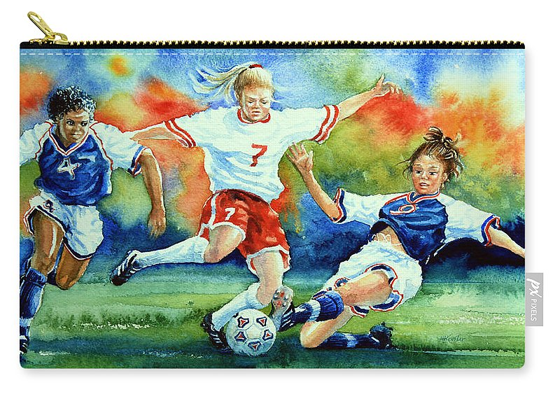 Sports Art Carry-all Pouch featuring the painting Women by Hanne Lore Koehler