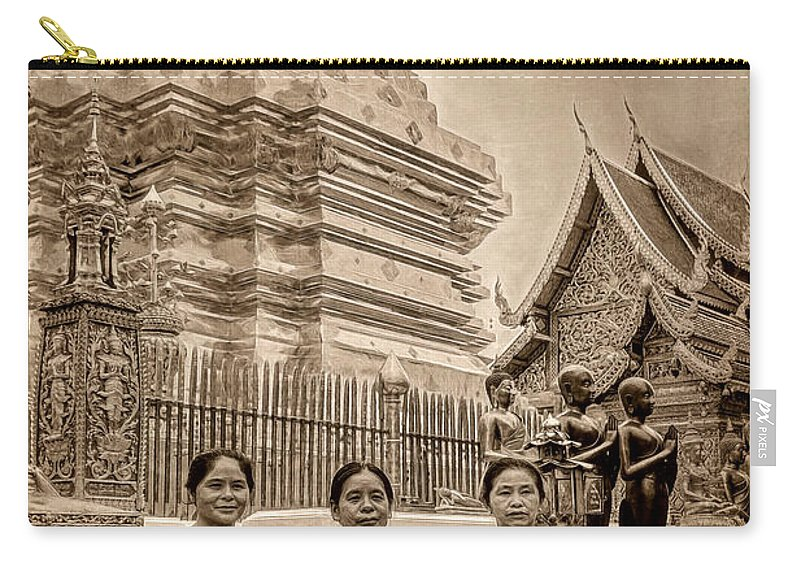 Architecture Carry-all Pouch featuring the photograph Women Praying by Maria Coulson