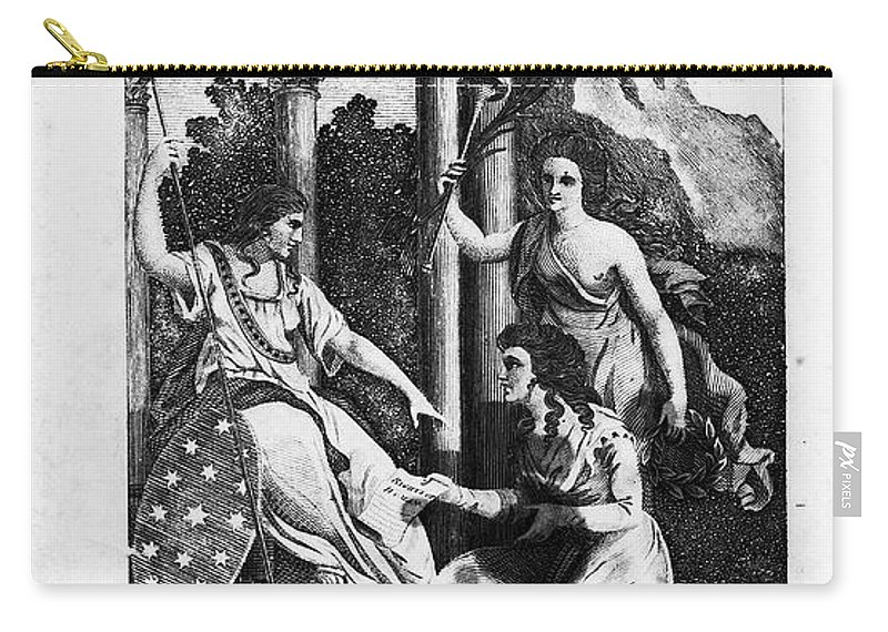 1792 Carry-all Pouch featuring the photograph Womens Rights, 1792 by Granger