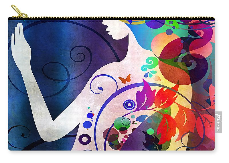 Amaze Carry-all Pouch featuring the digital art Wonder by Angelina Vick