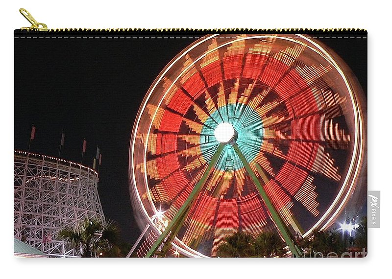 Ferris Wheel Carry-all Pouch featuring the photograph Wonder Wheel by Al Powell Photography USA