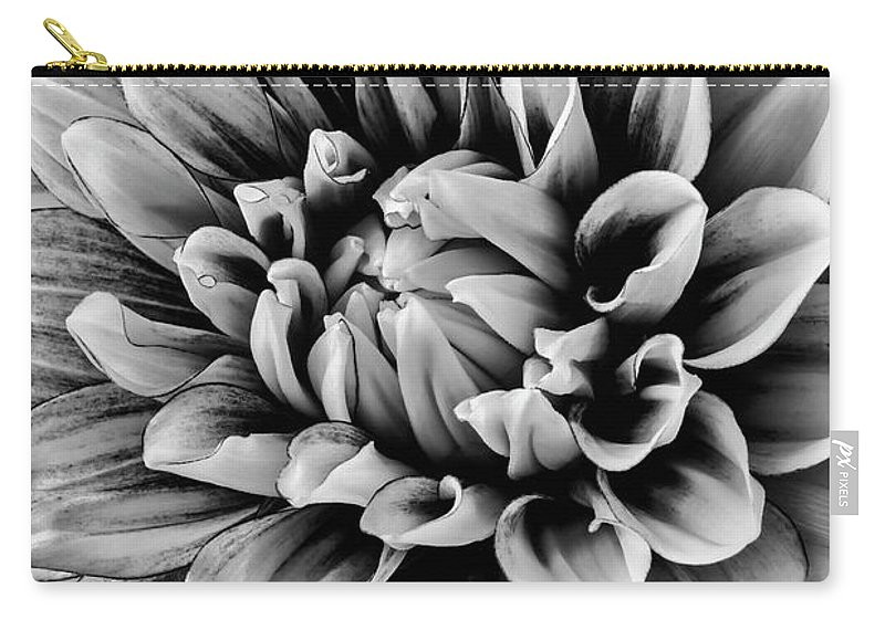 Vertical Carry-all Pouch featuring the photograph Wonderful Graphic Dahlia by Garry Gay